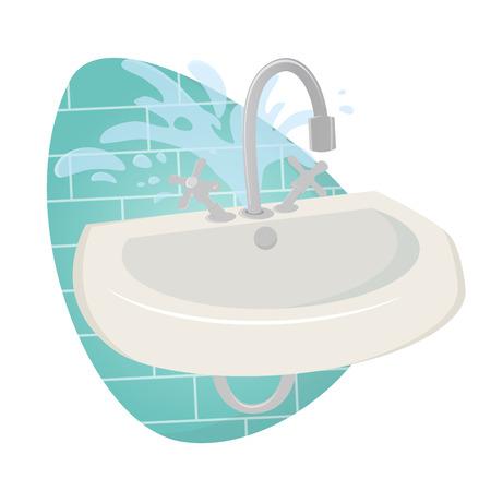 sink: damaged sink