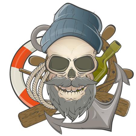 marinha: cr�nio marinheiro Ilustra��o
