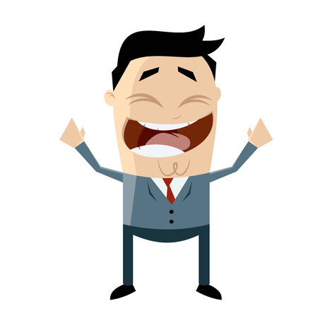 cheerful asian businessman Vector