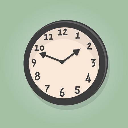 cartoon clock: retro cartoon clock