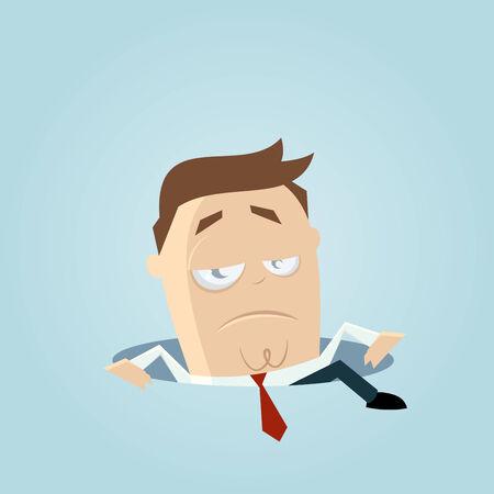 renuncia: hombre de negocios que sube fuera de un agujero