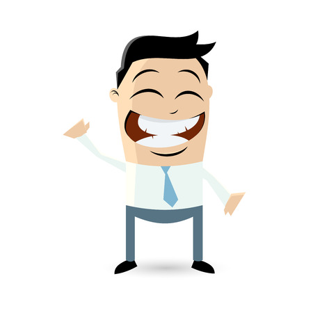 funny cartoon man is beckoning Vector