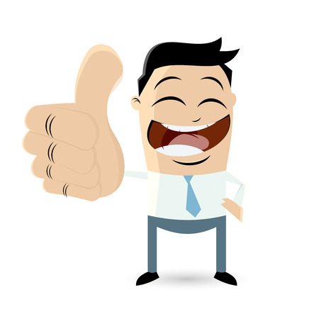 Businessman with thumbs up Vector