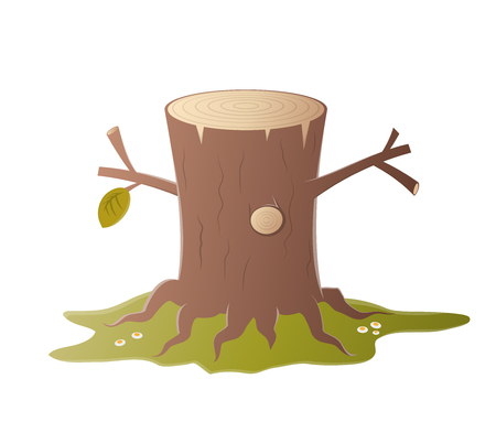 stub: cartoon tree stump