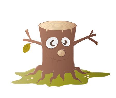 stump: funny tree stump character