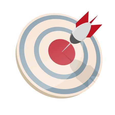 dartboard: dartboard with dart in bullseye Illustration