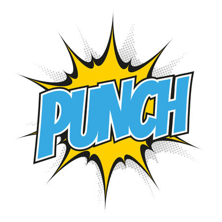funny cartoon punch Vector