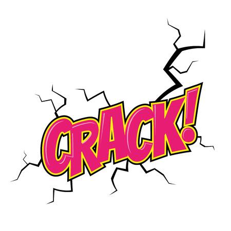 cartoon crack noise Vector
