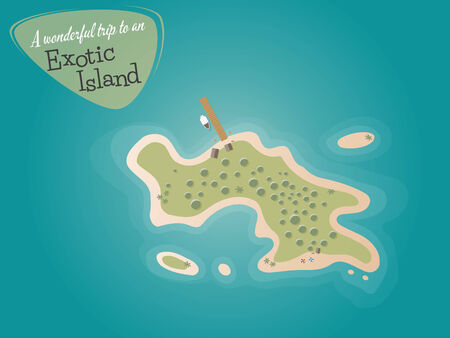 bird eye view: cartoon island