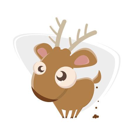 funny cartoon deer Stock Vector - 26729786