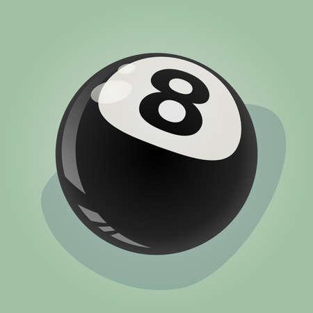 eight ball: retro eight ball illustration Illustration