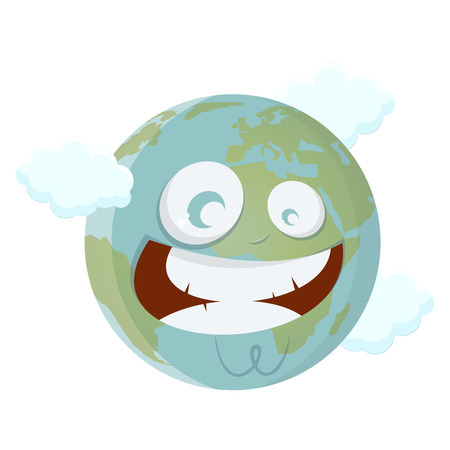 smirking: smiling cartoon earth