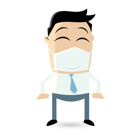 funny businessman with mouthpiece Vector