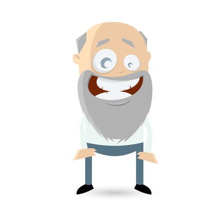 vejez feliz: hombre mayor divertido est� sonriendo