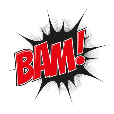detonation: cartoon explosion bam Illustration