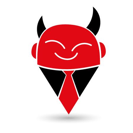 sinner: modern and simple devil illustration Illustration