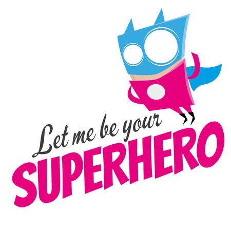 superpower: funny cartoon super hero