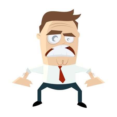 angry businessman Ilustração