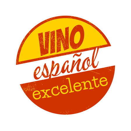 vintage sign which means excellent spain wine Stock Illustratie