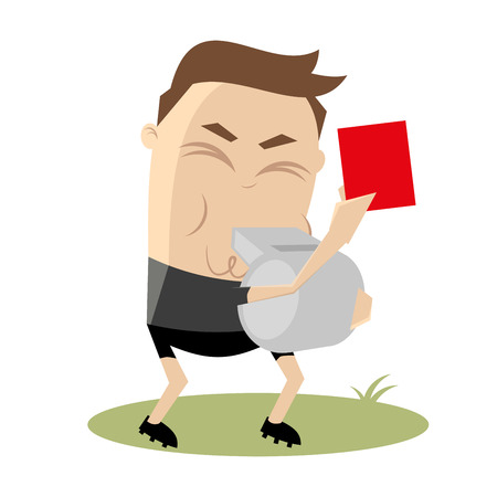referee is showing a red card Vector