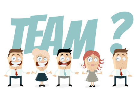 funny business people are a team