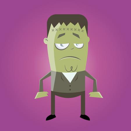funny frankenstein monster Illustration