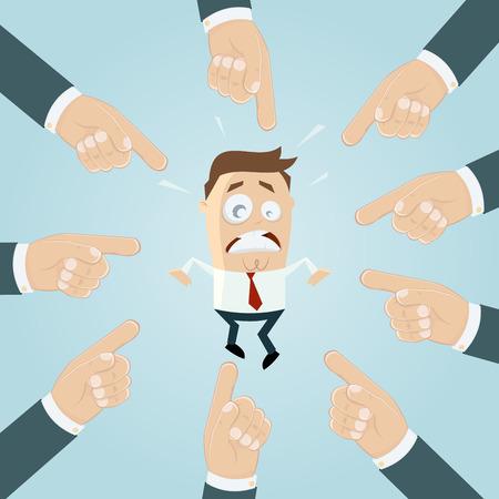 businessman is scapegoat