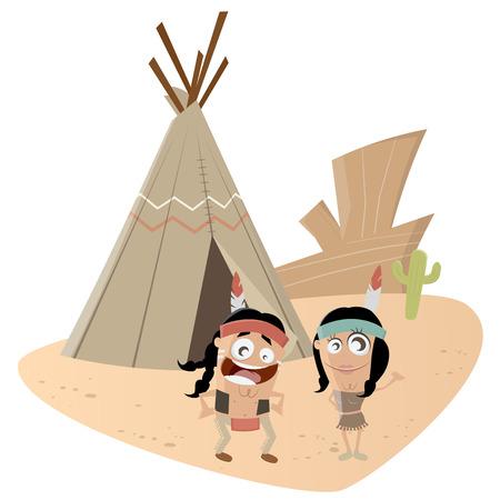 teepee: funny indian couple