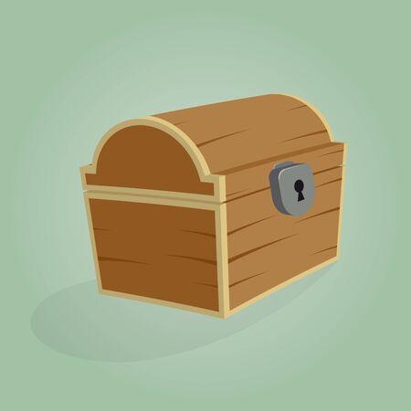 treasure box: cartoon treasure box