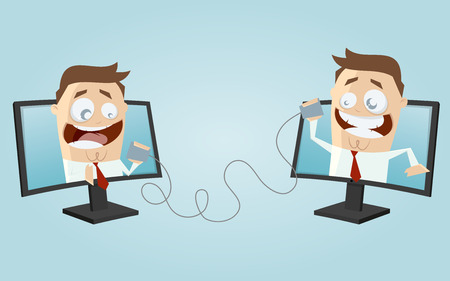 funny business people communication Illustration