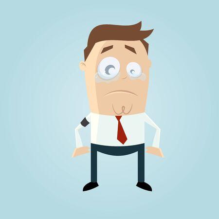 empresario triste: triste hombre de negocios con el brazalete de luto