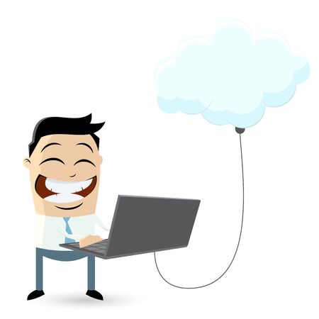 business man is cloud computing Vector