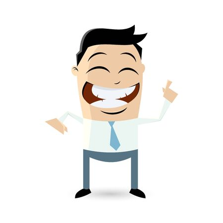 hint: funny businessman pointing with finger Illustration