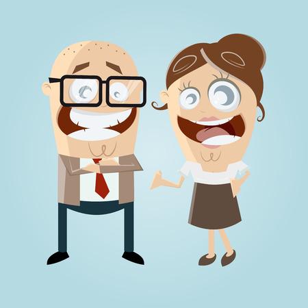 happy business team: happy business team Illustration