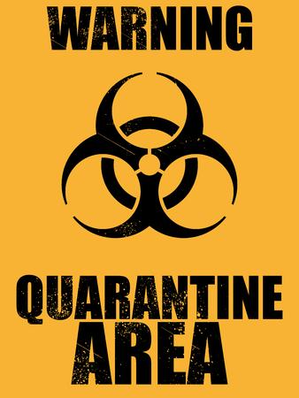 biohazard quarantine area background Illustration