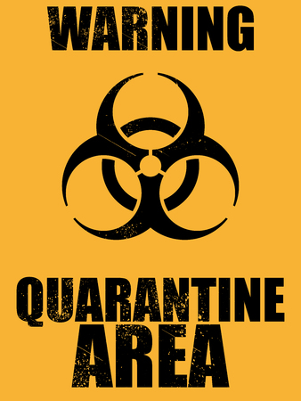 scourge: biohazard quarantine area background Illustration