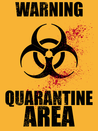 quarantine: biohazard quarantine area background Illustration