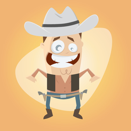 cowboy cartoon: funny cartoon cowboy