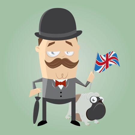 estereotipo: británico hombre ilustración Vectores