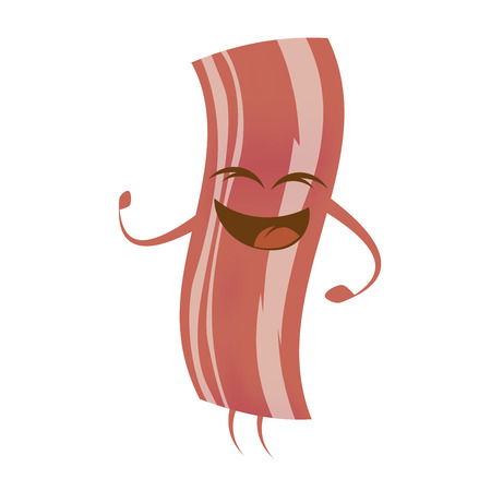 bacon art: funny cartoon bacon
