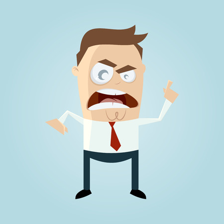 angry businessman: angry businessman pointing with finger Illustration