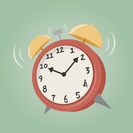 wake: cartoon alarm clock Illustration