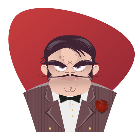 sinister: sinister cartoon mafia boss