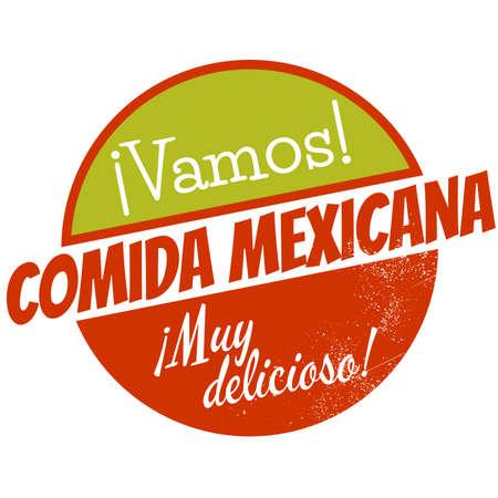 mexican restaurant: vintage mexican restaurant badge