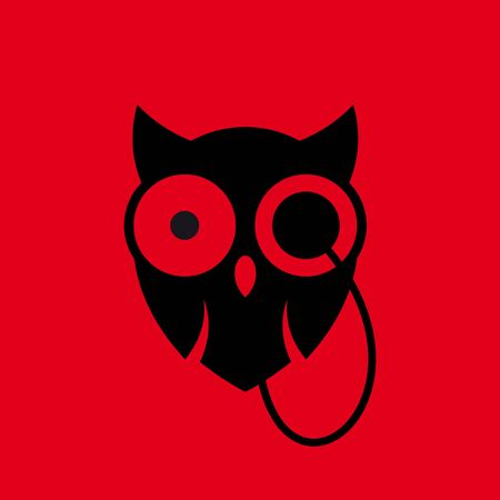 monocle: stylized owl with monocle