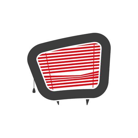 Vektor-Illustration der tv mit Blinds Vektorgrafik