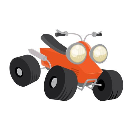 quad: cartoon quad bike Illustration