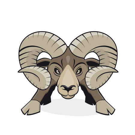 angry cartoon ram