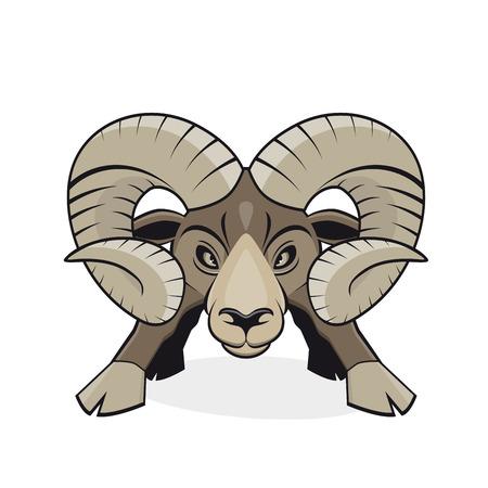 animal ram: angry cartoon ram