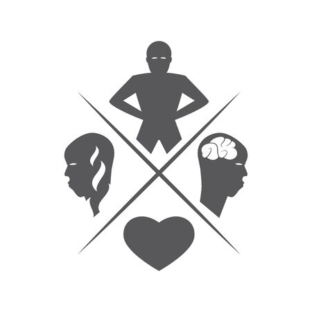 vitality: human vitality illustration Illustration